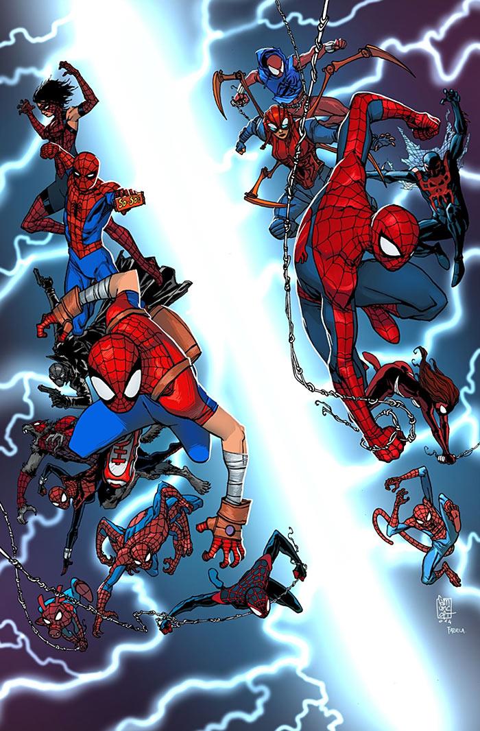 Capa de Spider-Verse #1 por Giuseppe Cammuncoli