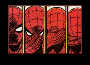 """Reação do Aranha clássico ao ler sua mais nova """"aventura"""", na mensal de número 4"""