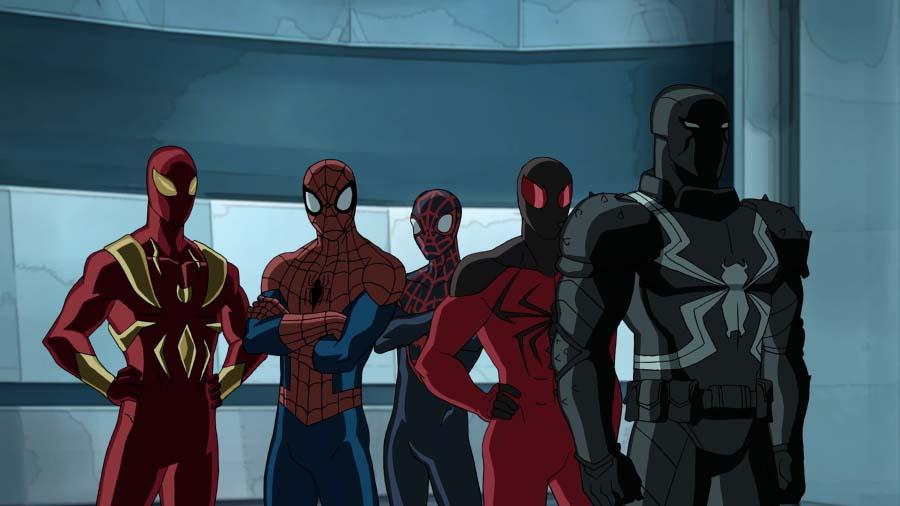 IRON SPIDER, SPIDER-MAN, MILE MORALES, SCARLET SPIDER, VENOM